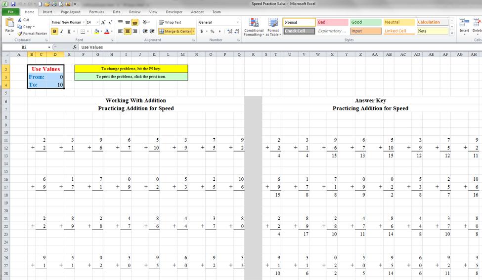 Printable Worksheets practice excel worksheets : Practice